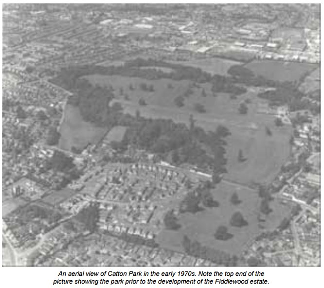 1970aerial view of catton park