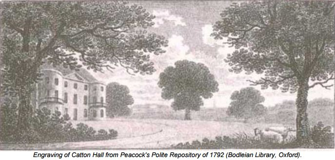 engraving of catton hall